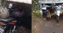 Viral Terowongan Unik, Pemotor yang Lewat Harus Kayang atau Membungkuk
